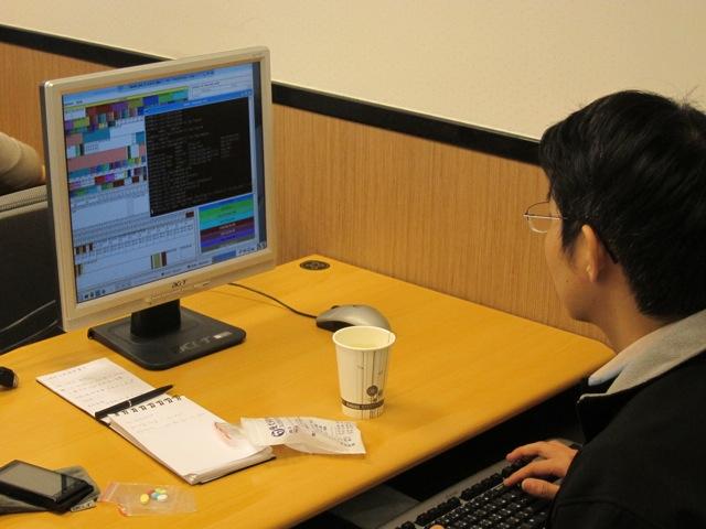 Student working on visualization exercises.